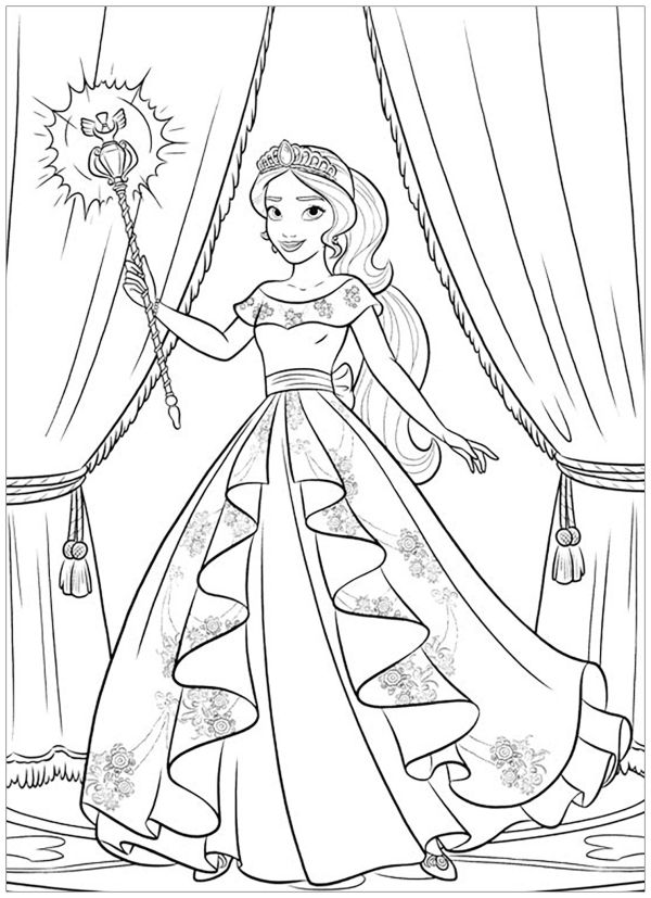Free Printable Elena of Avalor Coloring Pages
