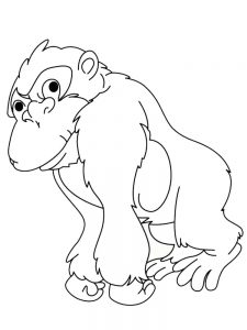 Free Printable Gorilla Coloring Pages