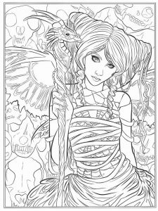 Free Printable Gothic Coloring Pages