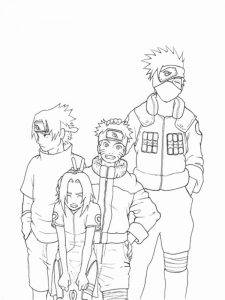 Free Printable Naruto Coloring Pages For Adults