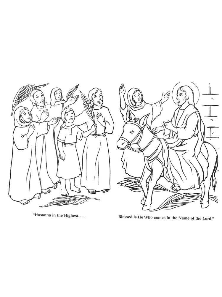 Free Printable Palm Sunday Coloring Pages