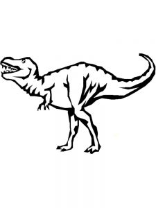 Free Printable T Rex Coloring Pages