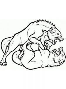 Free Printable Wolves Coloring Pages