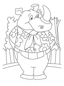 Free Rhino Coloring Pages