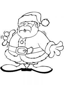 Free Santa Colouring Pages Printable