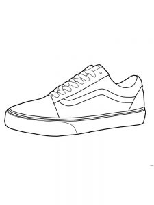 Free Shoes Coloring Page