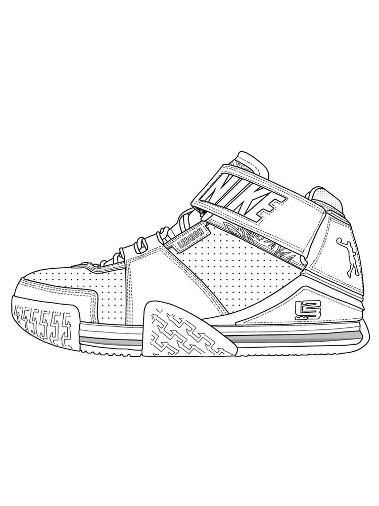 Free Shoes Coloring Pages