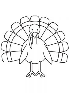 Free Turkey Coloring Pages For Adults
