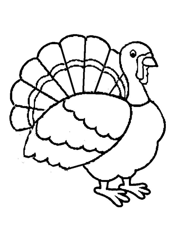 Free Turkey Coloring Pages For Preschoolers