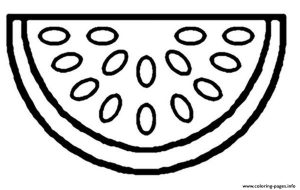Free Watermelon Fruit Coloring Pages Printable