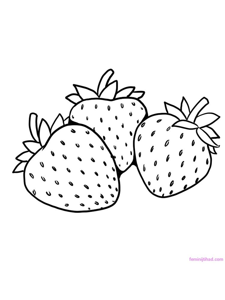 Free strawberry coloring pages