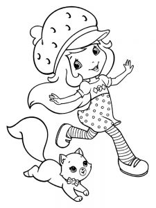 Full Page Strawberry Shortcake Coloring Pages