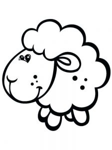 Full Size Sheep Coloring Pages