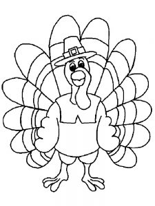 Funny Turkey Coloring Pages