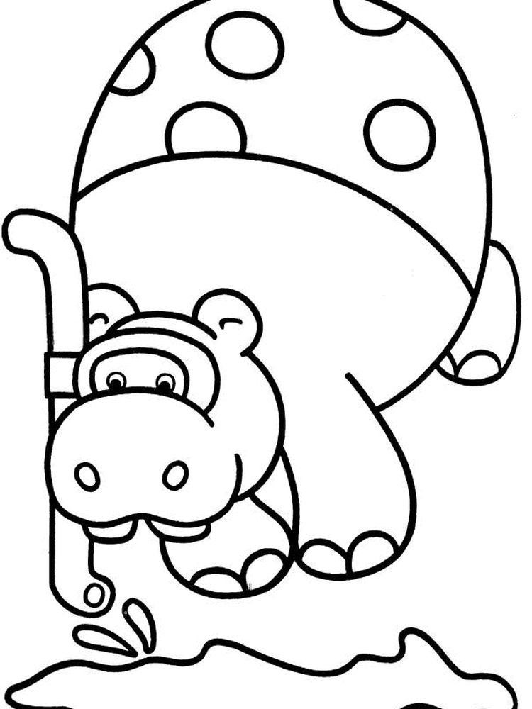 George And Martha Hippo Coloring Pages