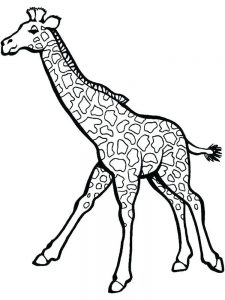 Giraffe Art Coloring Pages