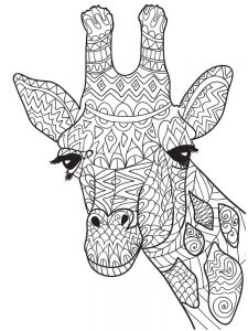 Giraffe Coloring Pages To Print