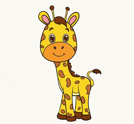 Giraffe Coloring Pages With Color