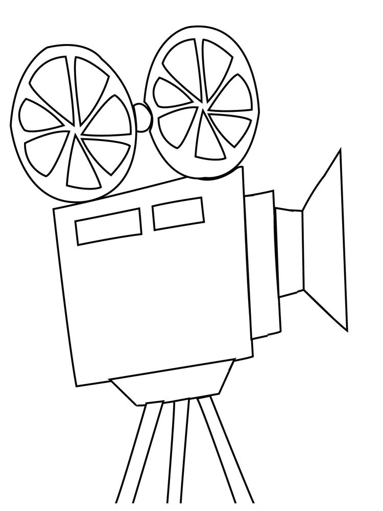 Girl With Camera Coloring Page