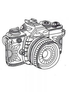 Girl With Camera Coloring Pages