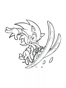 Golden Sonic Coloring Page