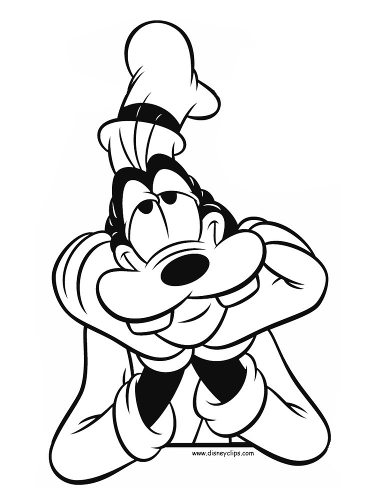Goofy Coloring Pages To Print For Free