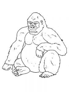 Gorilla Coloring Pages To Print