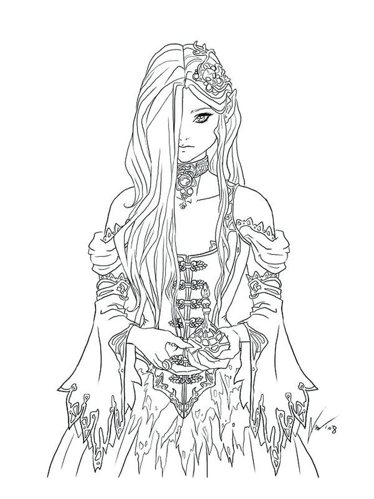 Gothic Art Coloring Pages