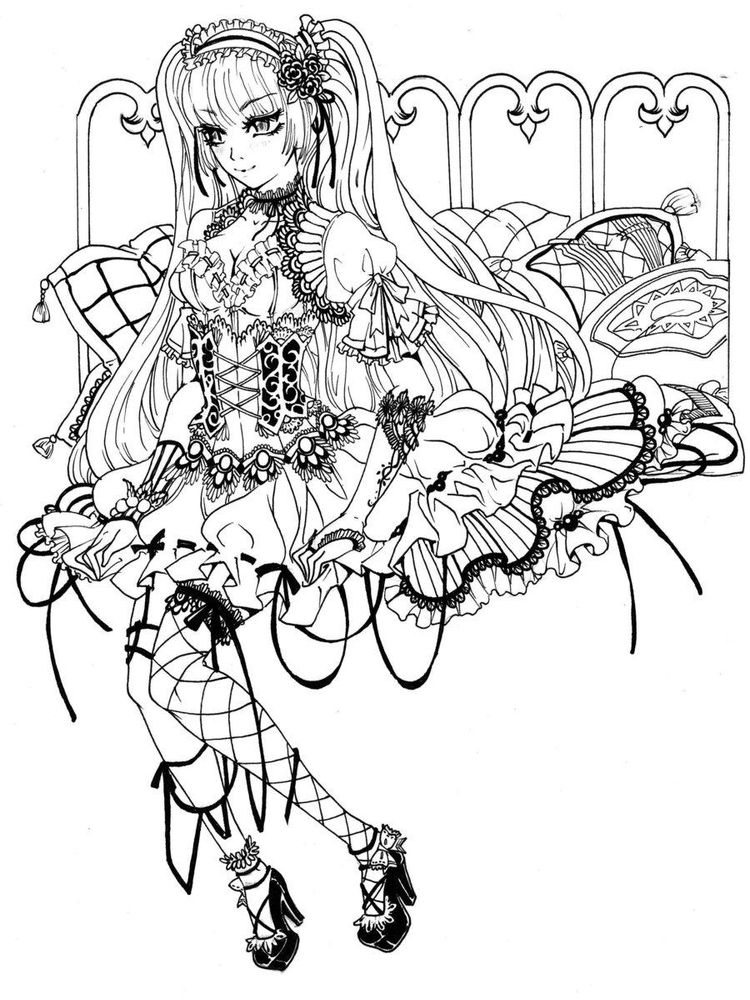 Gothic Coloring Pages For Adults