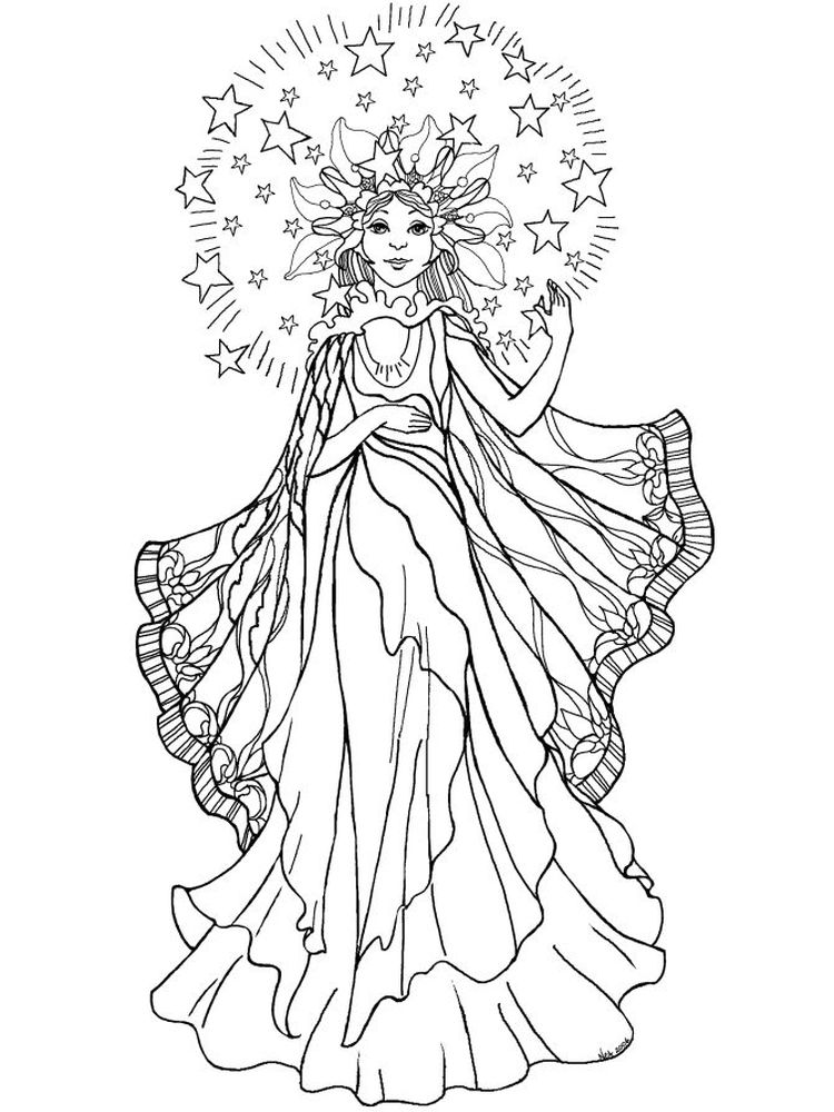 Gothic Girl Coloring Pages