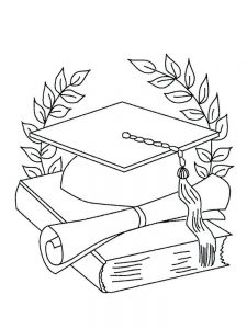 Graduation Coloring Sheets Kindergarten