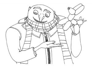 Gru minion coloring pages