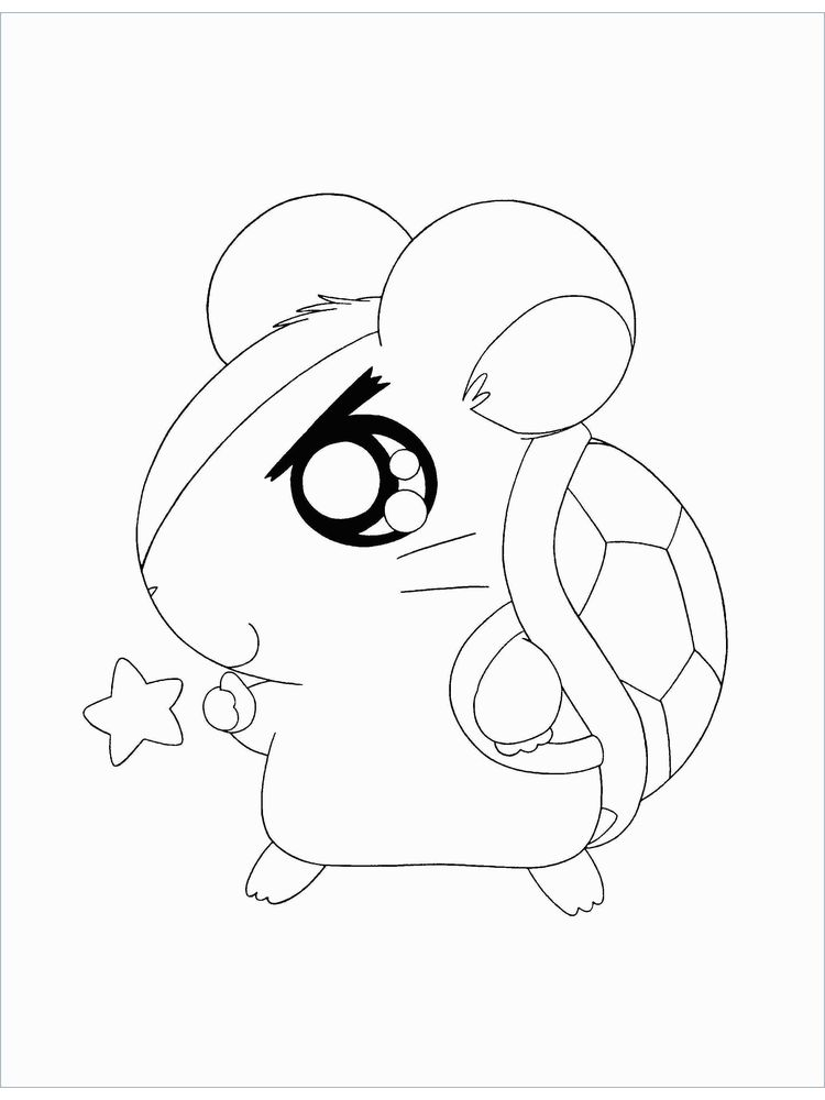 Hamster Ball Coloring Pages