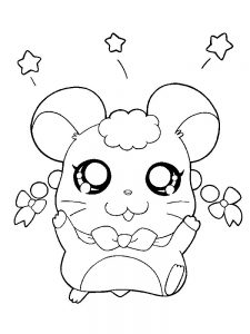 Hamster Coloring Pages Easy
