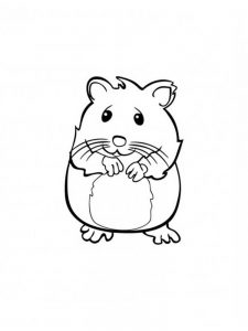 Hamster Wheel Coloring Pages