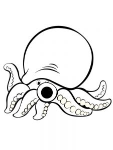 Hank The Octopus Coloring Pages