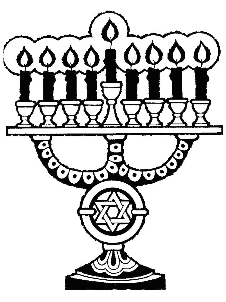 Hanukkah Coloring Pages Dreidel