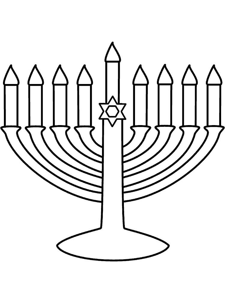 Hanukkah Coloring Pages Easy