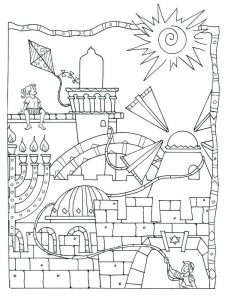 Hanukkah Coloring Pages Free