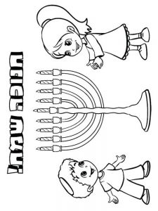 Hanukkah Coloring Sheets Print