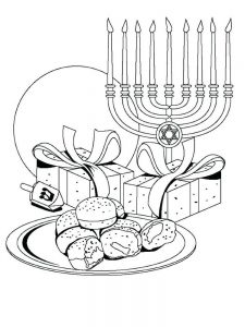 Hanukkah Coloring Sheets Printable