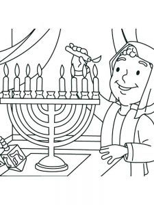 Hanukkah Gelt Coloring Pages