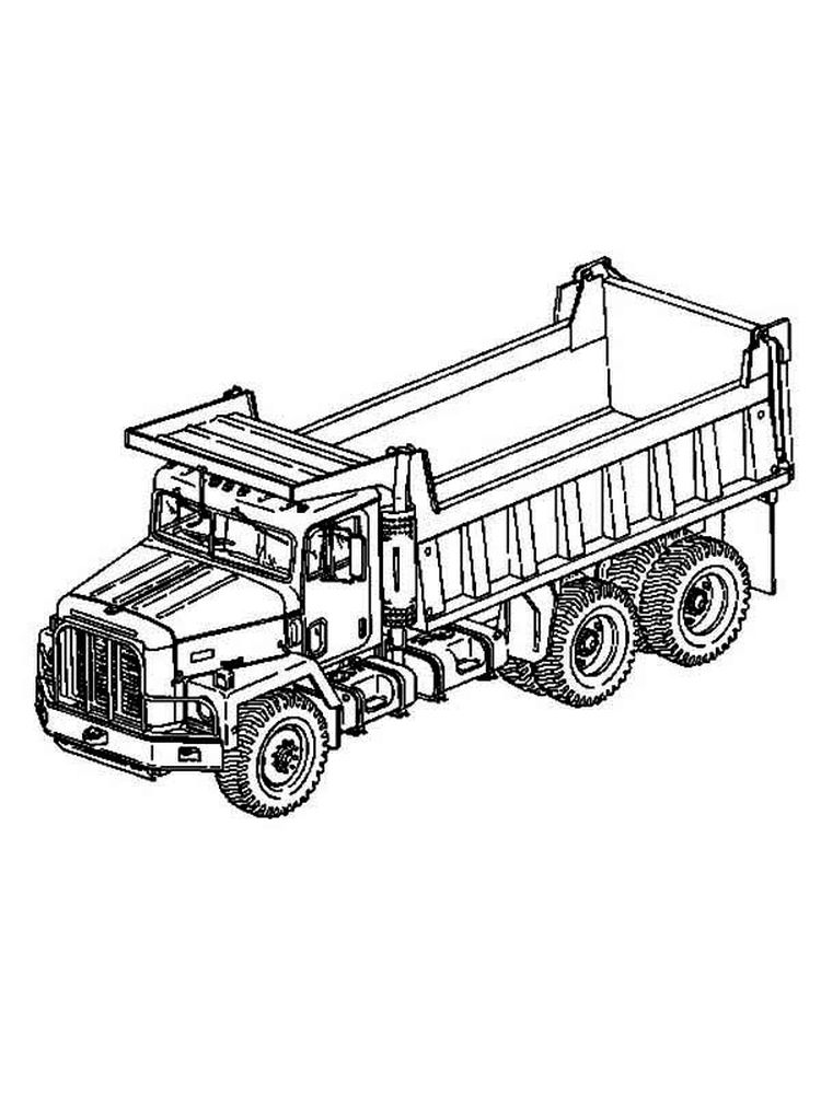 Happy Dump Truck Coloring Pages