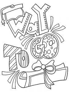 Happy Graduation Coloring Pages