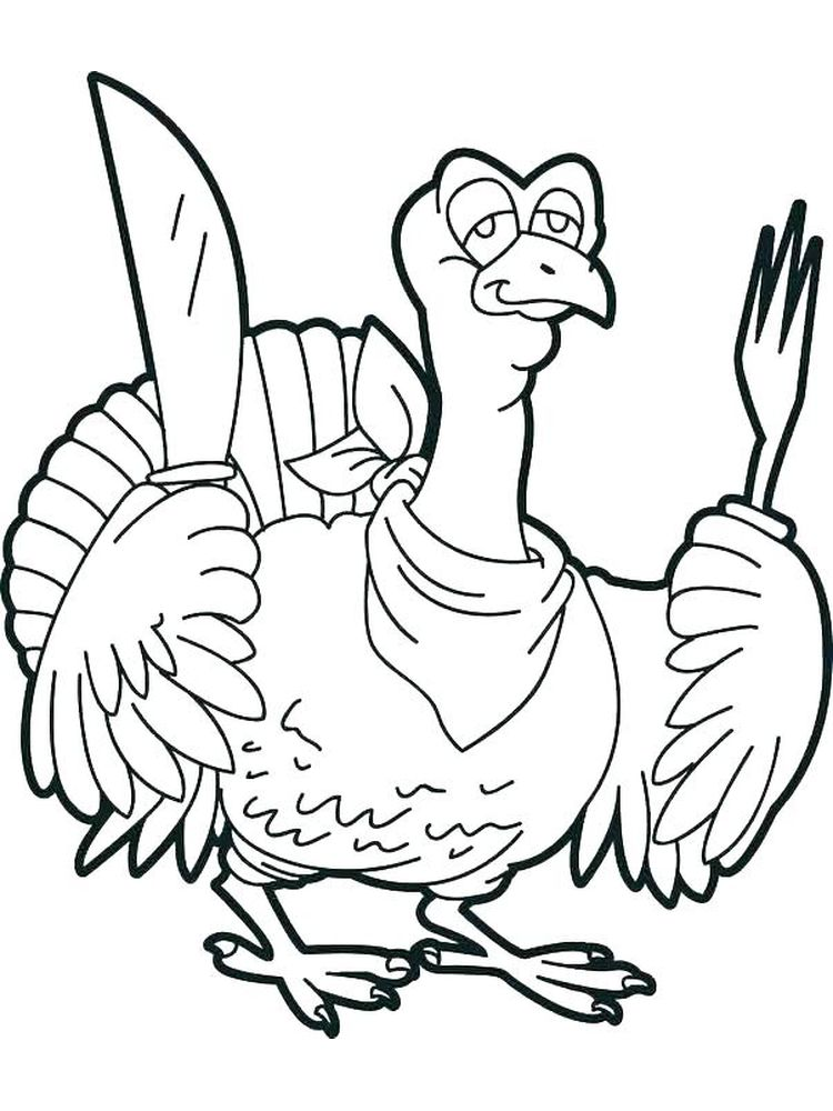 Happy Turkey Day Coloring Pages