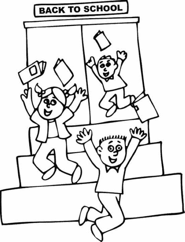Happy Welcome Back To School Coloring Pages To Print