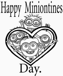 Happy miniontines minion coloring pages