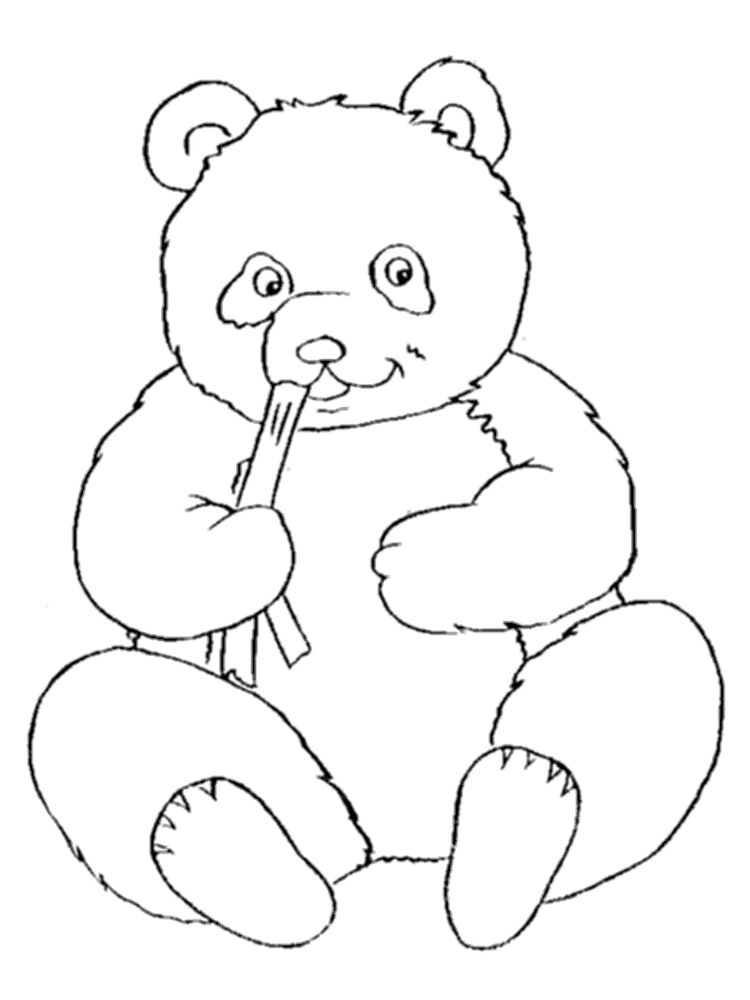 Hard Panda Coloring Pages