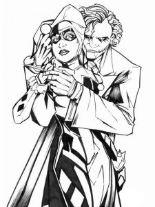 Harley Quinn Coloring Pages To Print Out