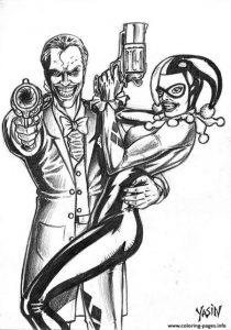 Harley quinn Mad Love Coloring Pages